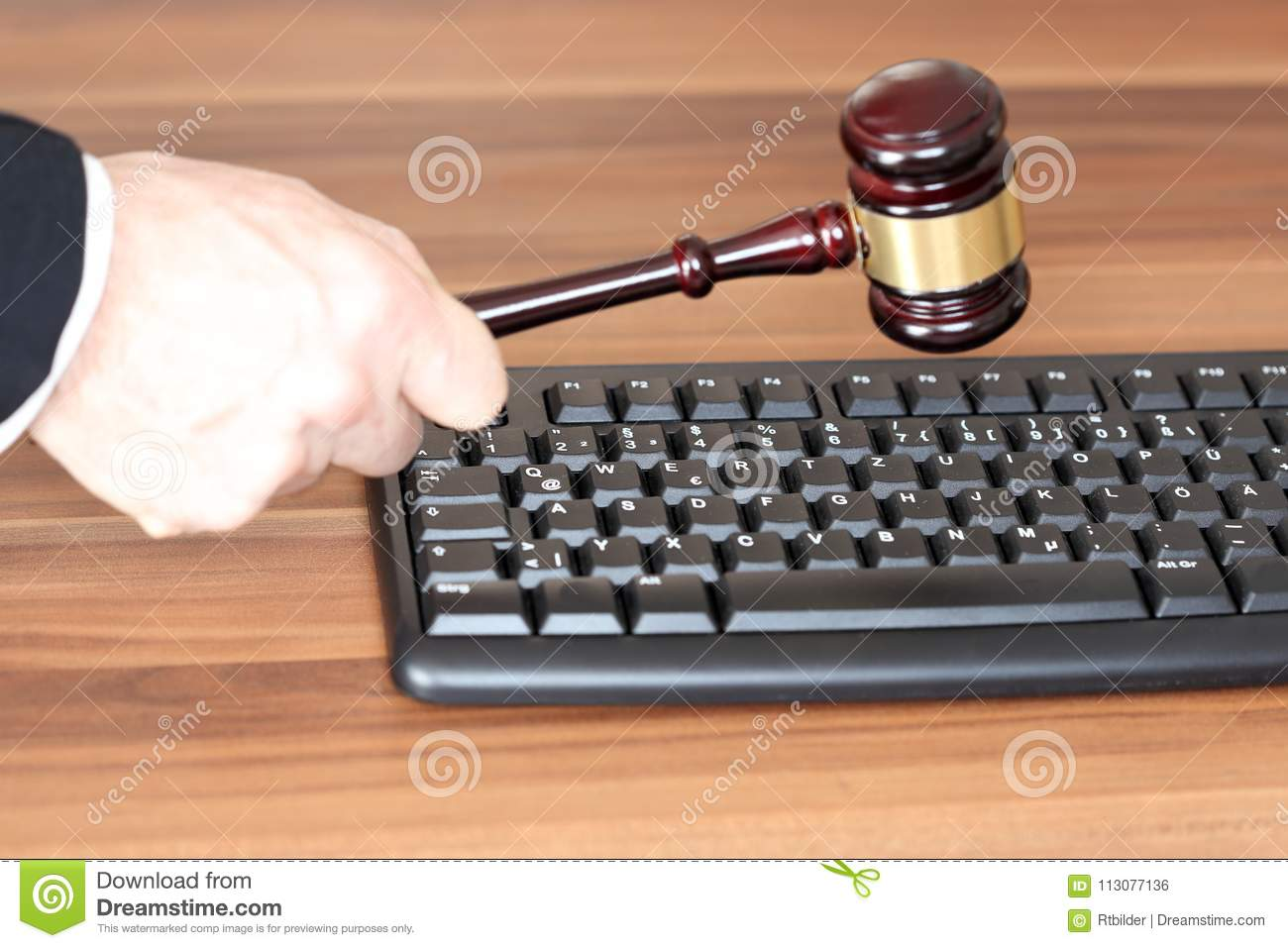 Symbolic Law With Media Symbol Stock Photo Image Of Guilty