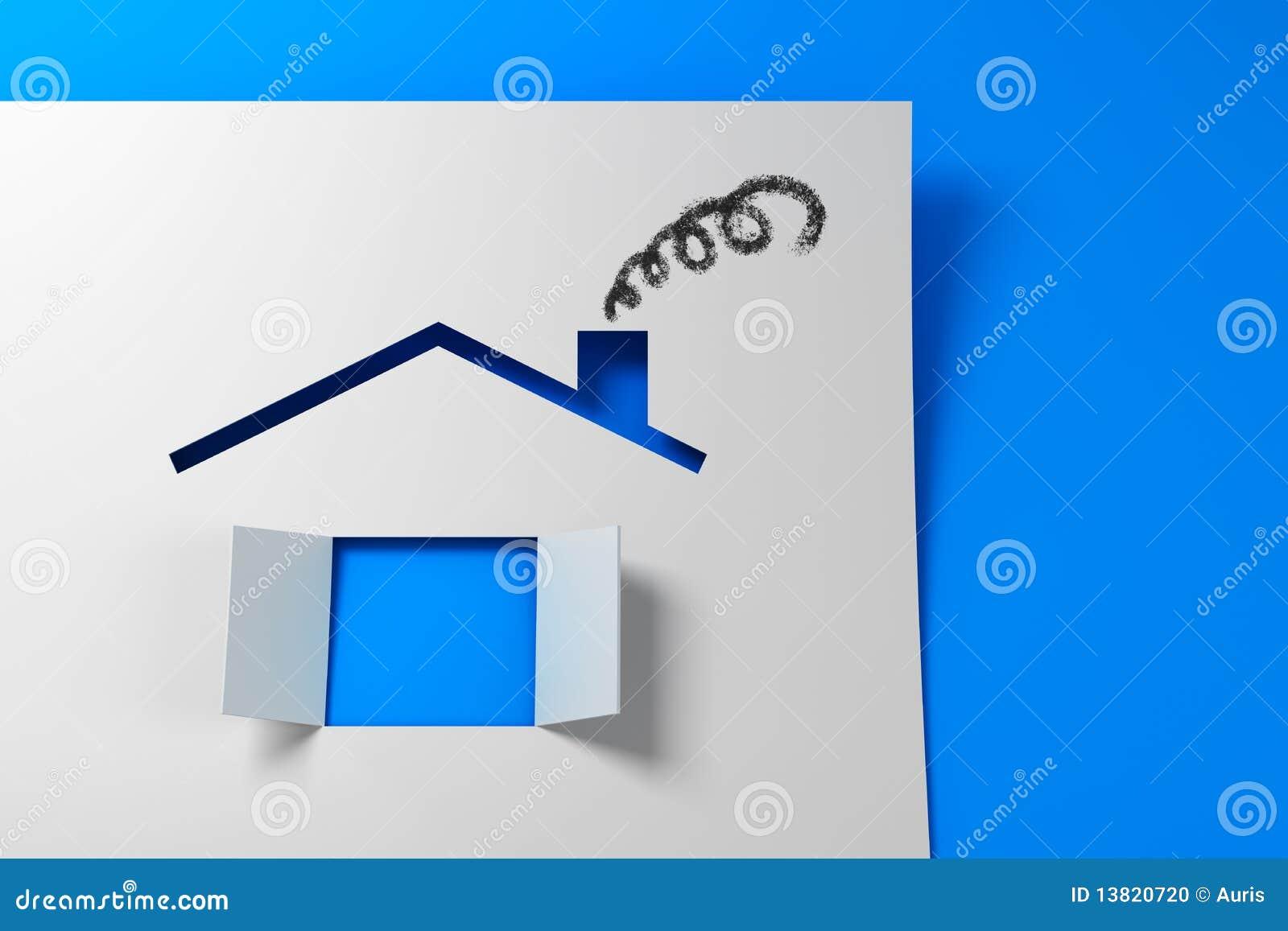 Symbolic Paper House 3d Stock Photo Image 13820720