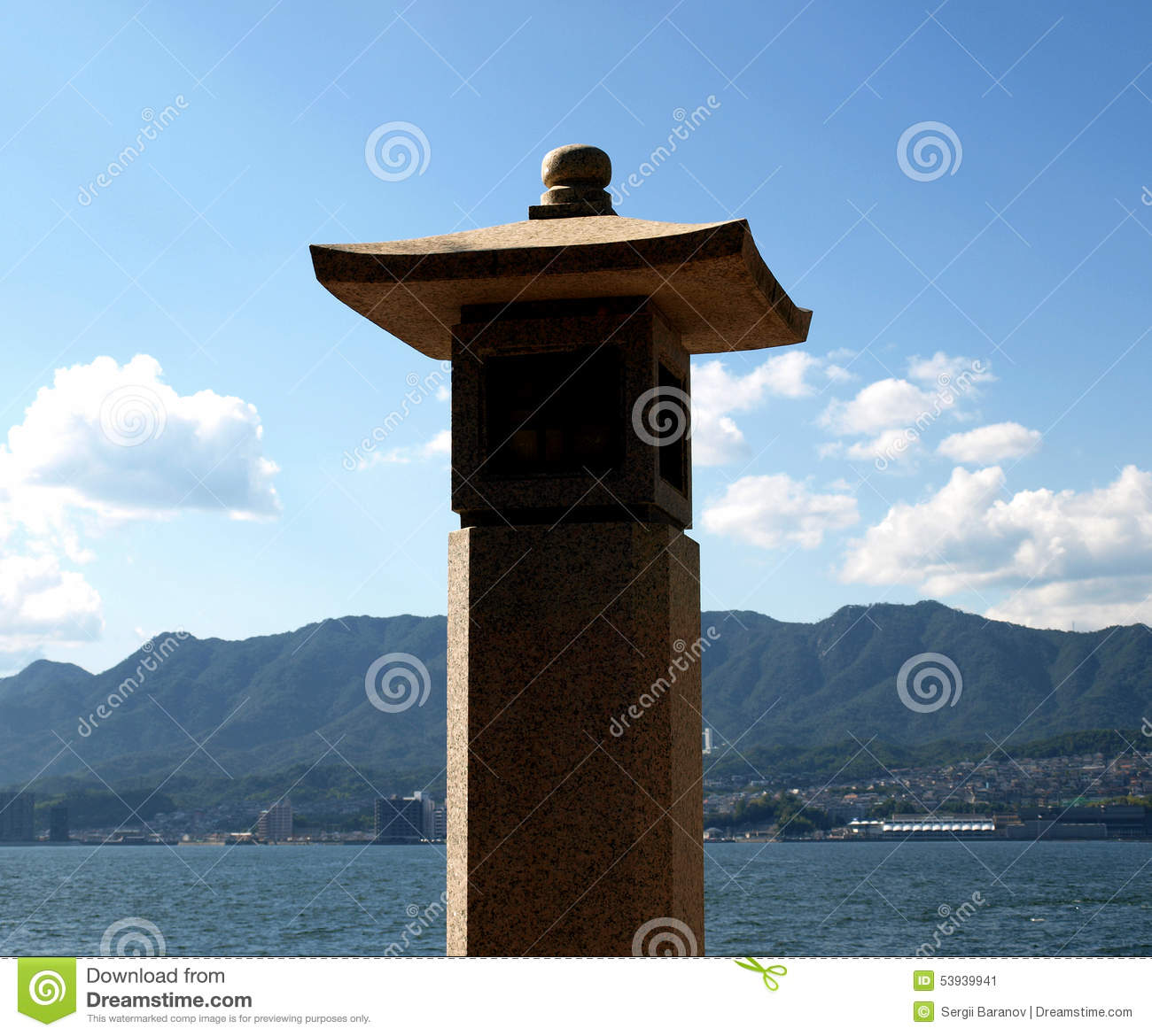 Symbolic Stone Lamp At Buddhist Temple Stock Image - Image: 53939941 for Temple Stone Lamp  257ylc