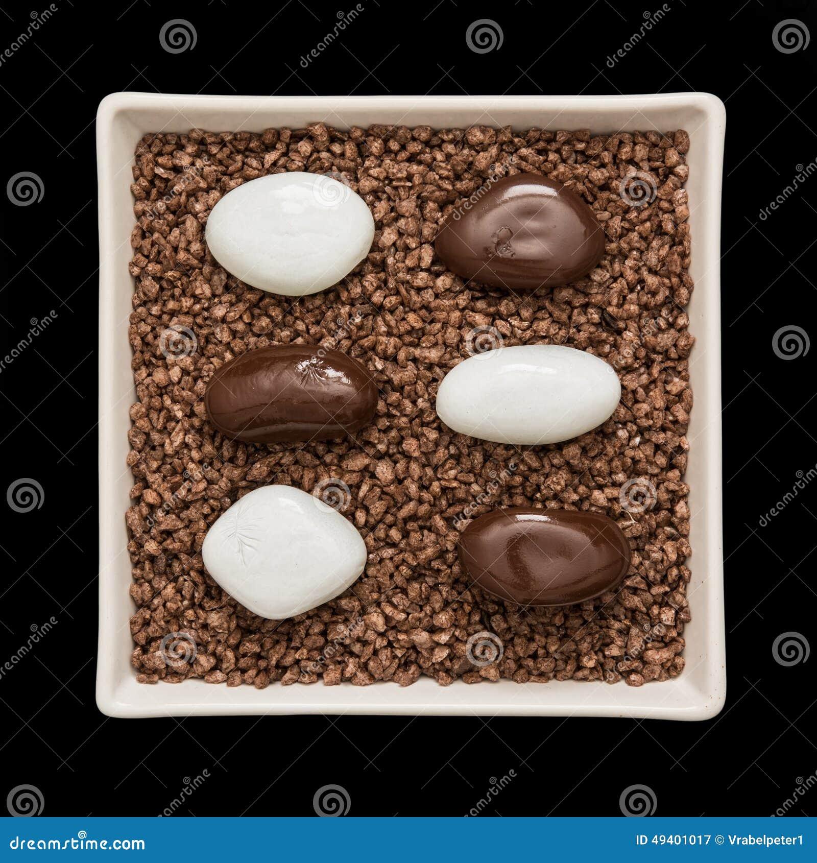 Download Symbolische Steine In Einer Weißen Schüssel Stockbild - Bild von dekor, obacht: 49401017
