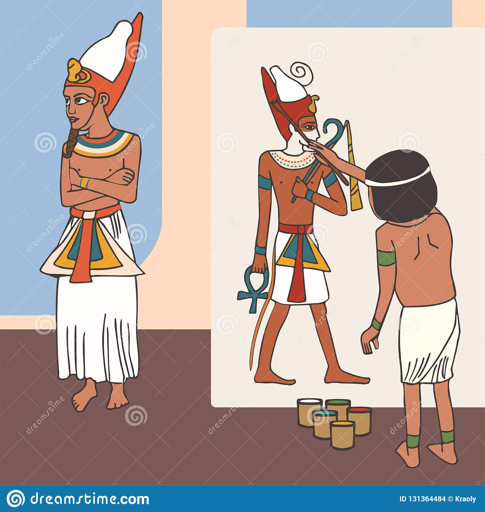 Funny Pictures About Egypt: Symbolism Of Ancient Egyptian Art, Funny Cartoon Stock