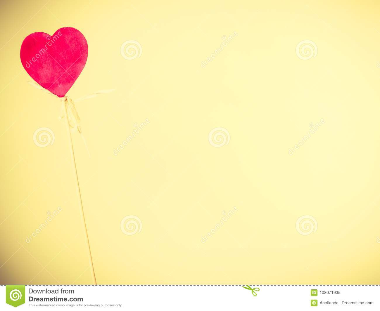 Lonely Heart On Pole Stock Image Image Of Expression 108071935