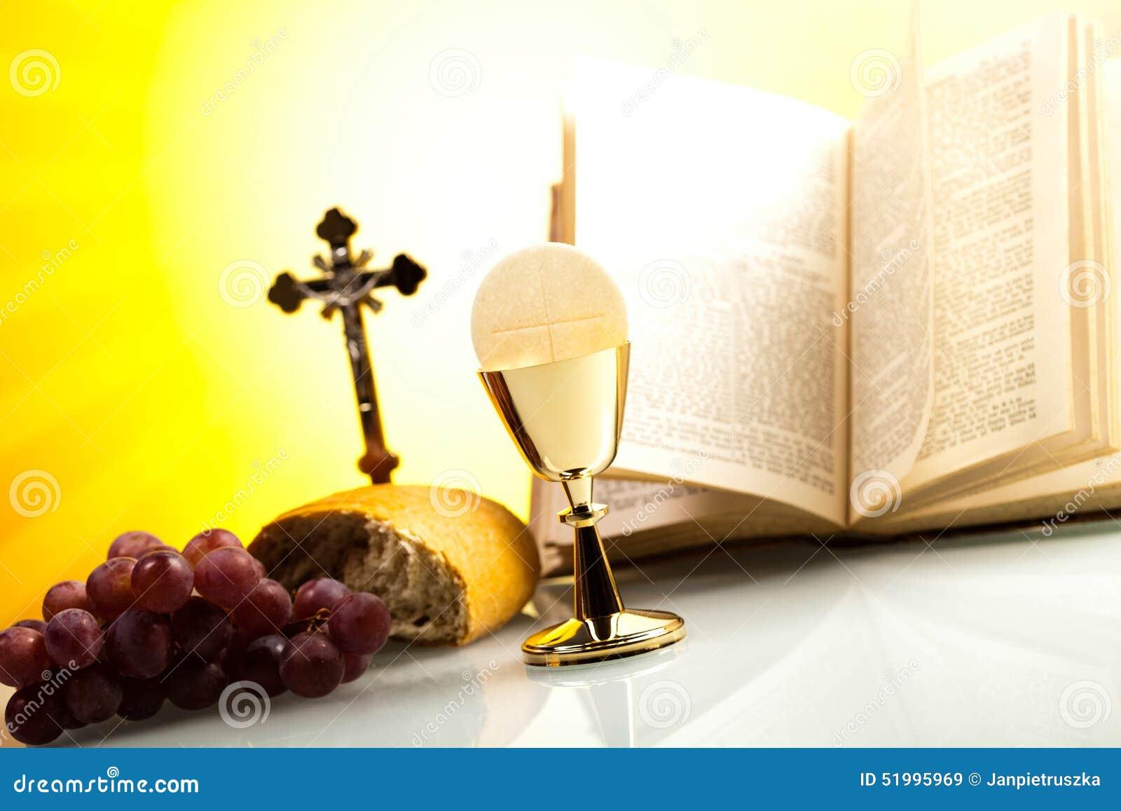 Symbolkristendomenreligion, ljus bakgrund, genomdränkt conce