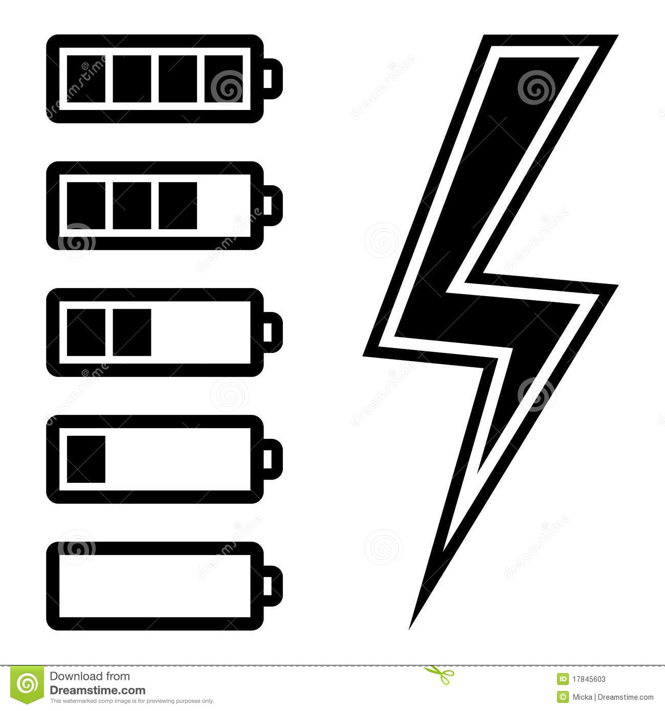 Symbols of battery level stock vector illustration of chemical symbols of battery level biocorpaavc Image collections