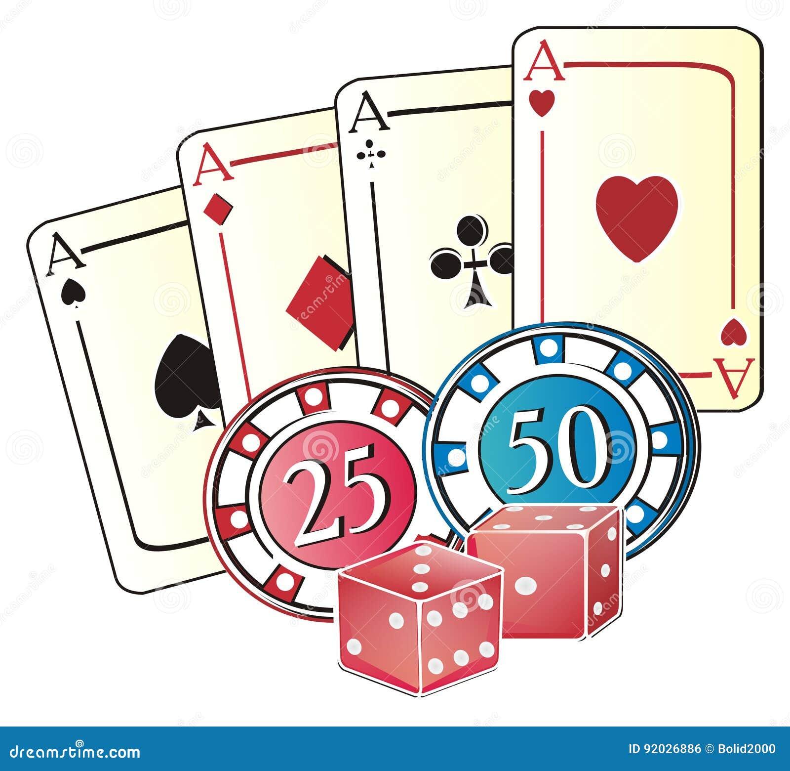 Symbols Of Casino Stock Illustration Illustration Of City 92026886