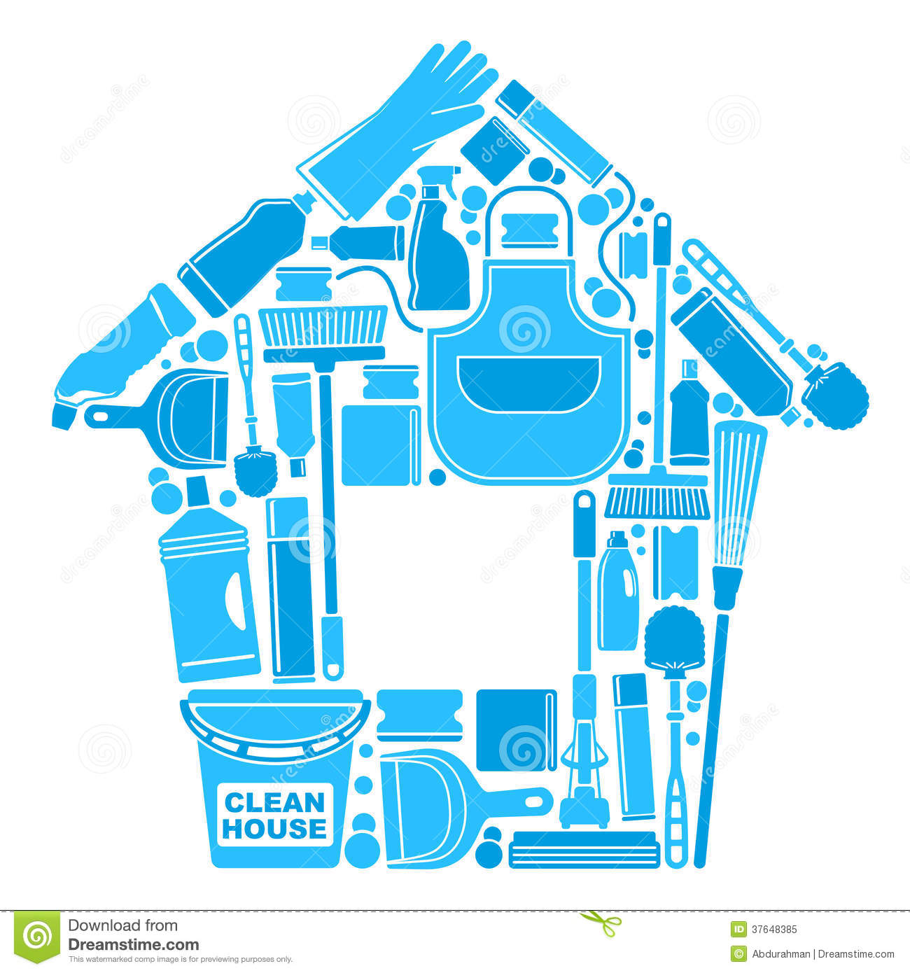 Symbols Of A Clean House Stock Illustration Image Of