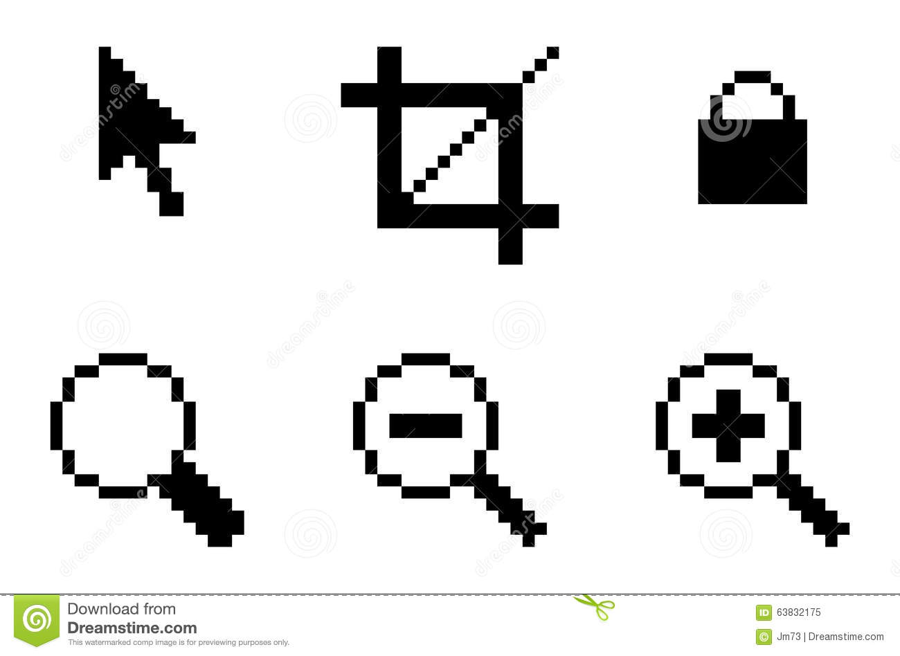 Symbols Of Computer Graphic Tools Stock Vector Illustration Of