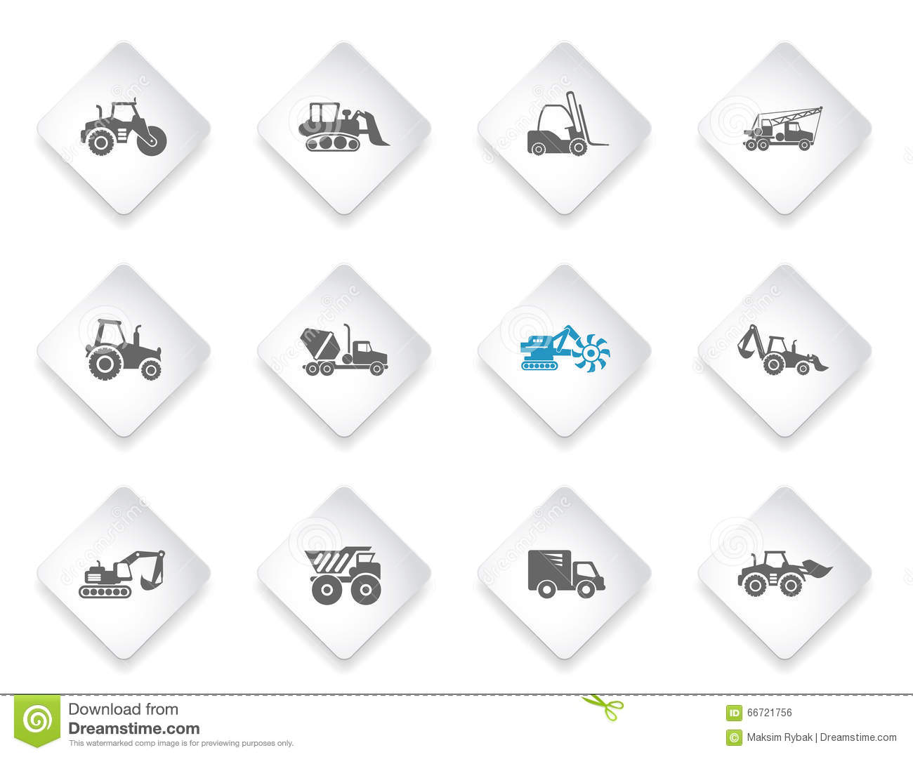 Symbols of construction machines stock vector illustration of symbols of construction machines buycottarizona Image collections