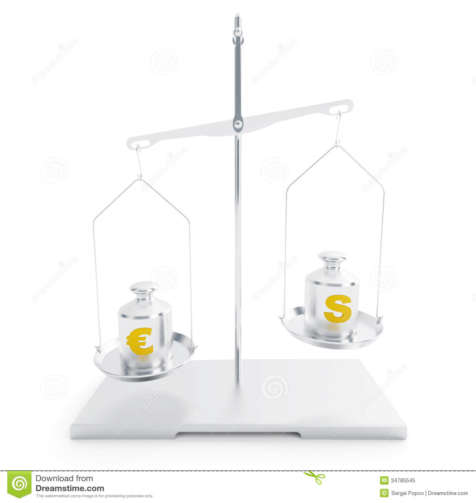 Symbols Of Dollar And Euro Stock Illustration Illustration Of Ideas
