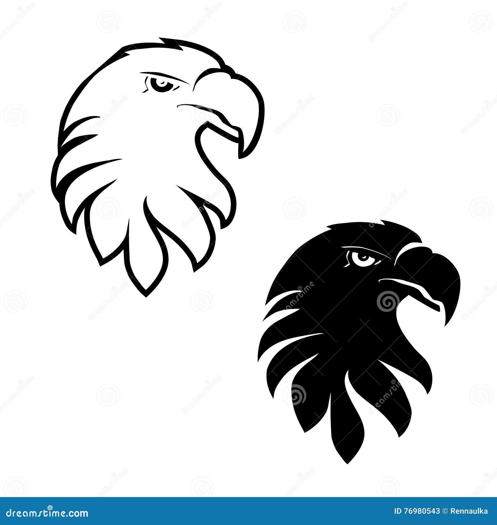 Symbols of eagle black sketch head stock vector illustration of symbols of eagle black sketch head biocorpaavc Images
