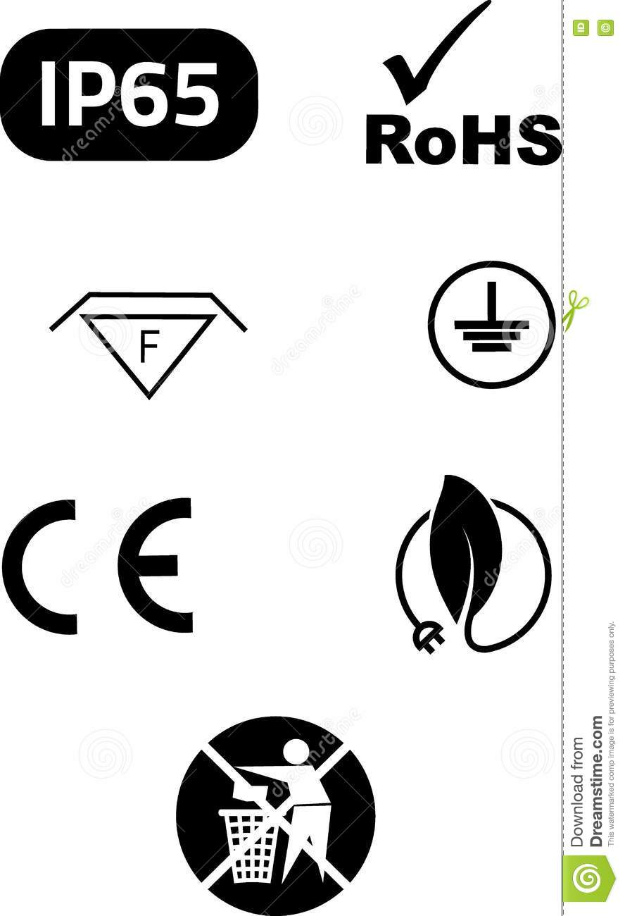 symbols of electrical safety stock vector