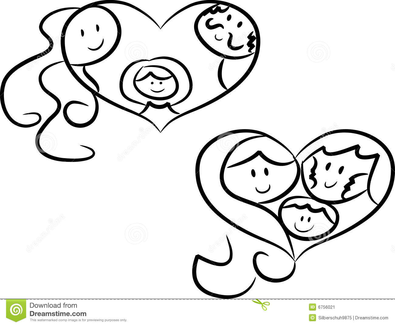 Symbols of family love stock vector. Illustration of ...