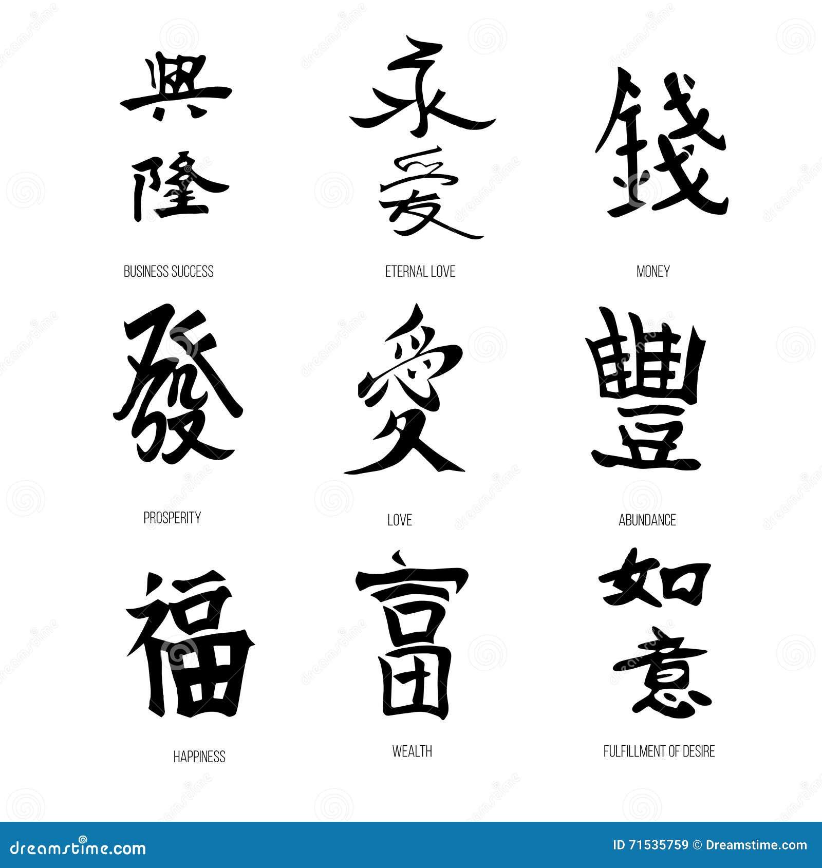 Symbols Of Feng Shui Vector Stock Vector Illustration Of