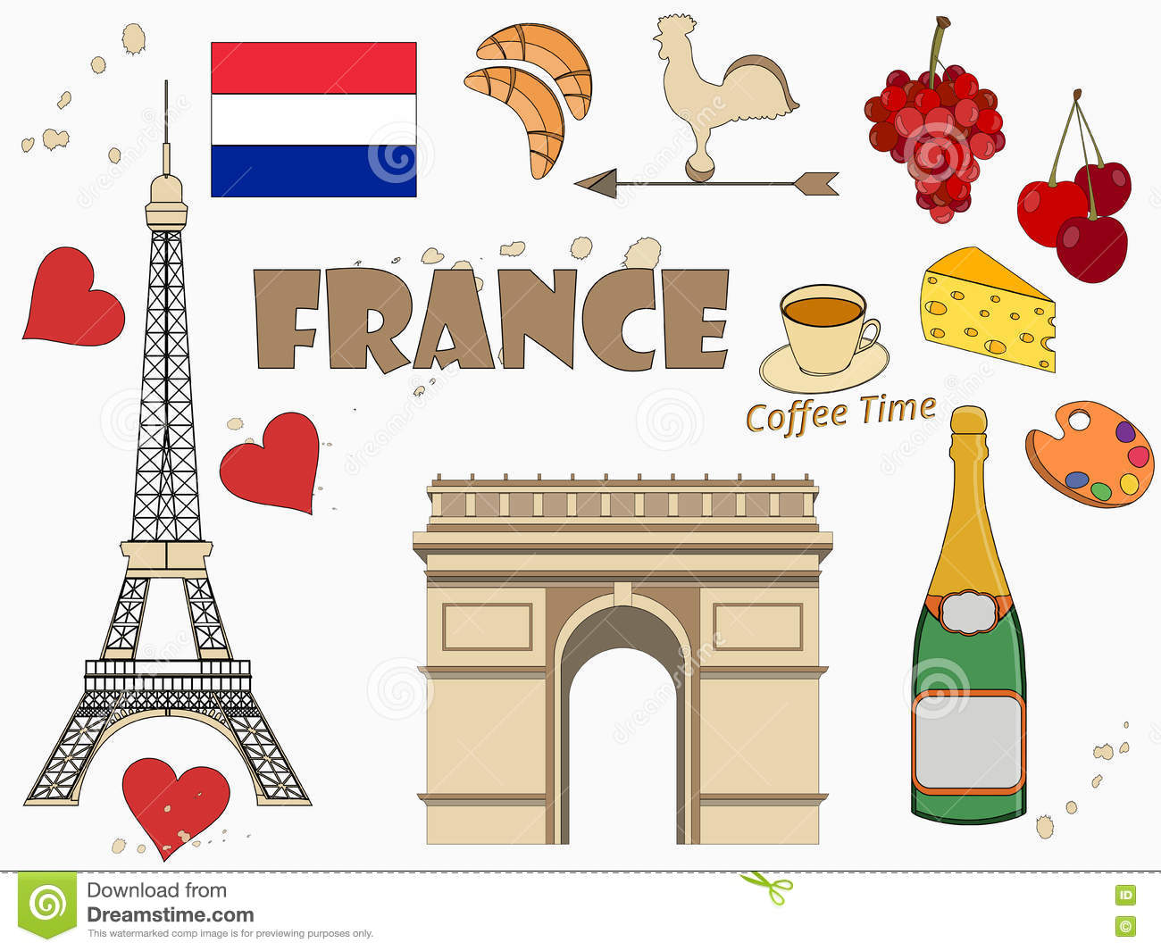 Symbols of france set tourism object with stroke vector illu symbols of france set tourism object with stroke vector illu illustration 71354958 megapixl biocorpaavc