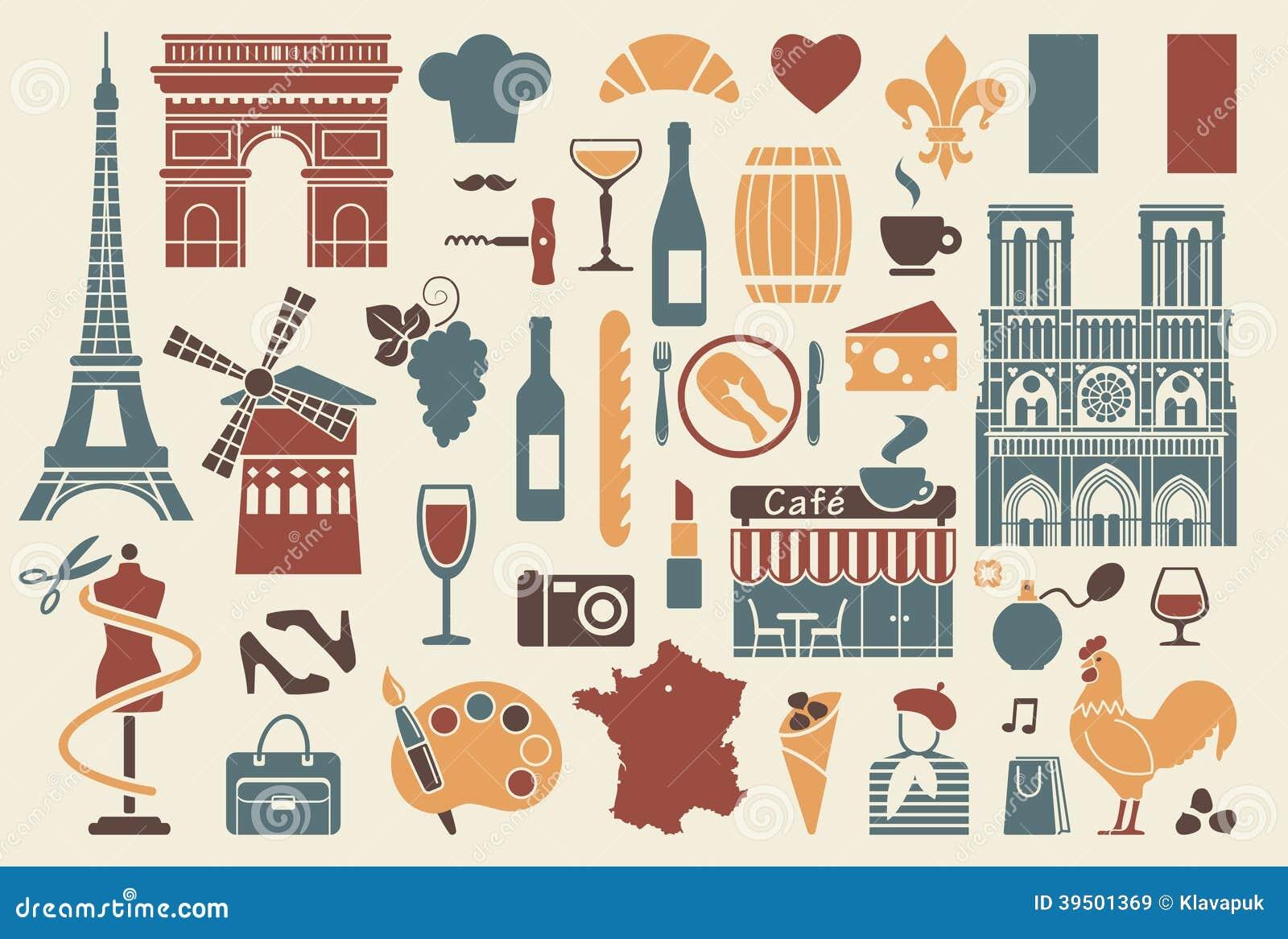 Symbols of france stock illustration image of frog flag - Culture de la truffe ...