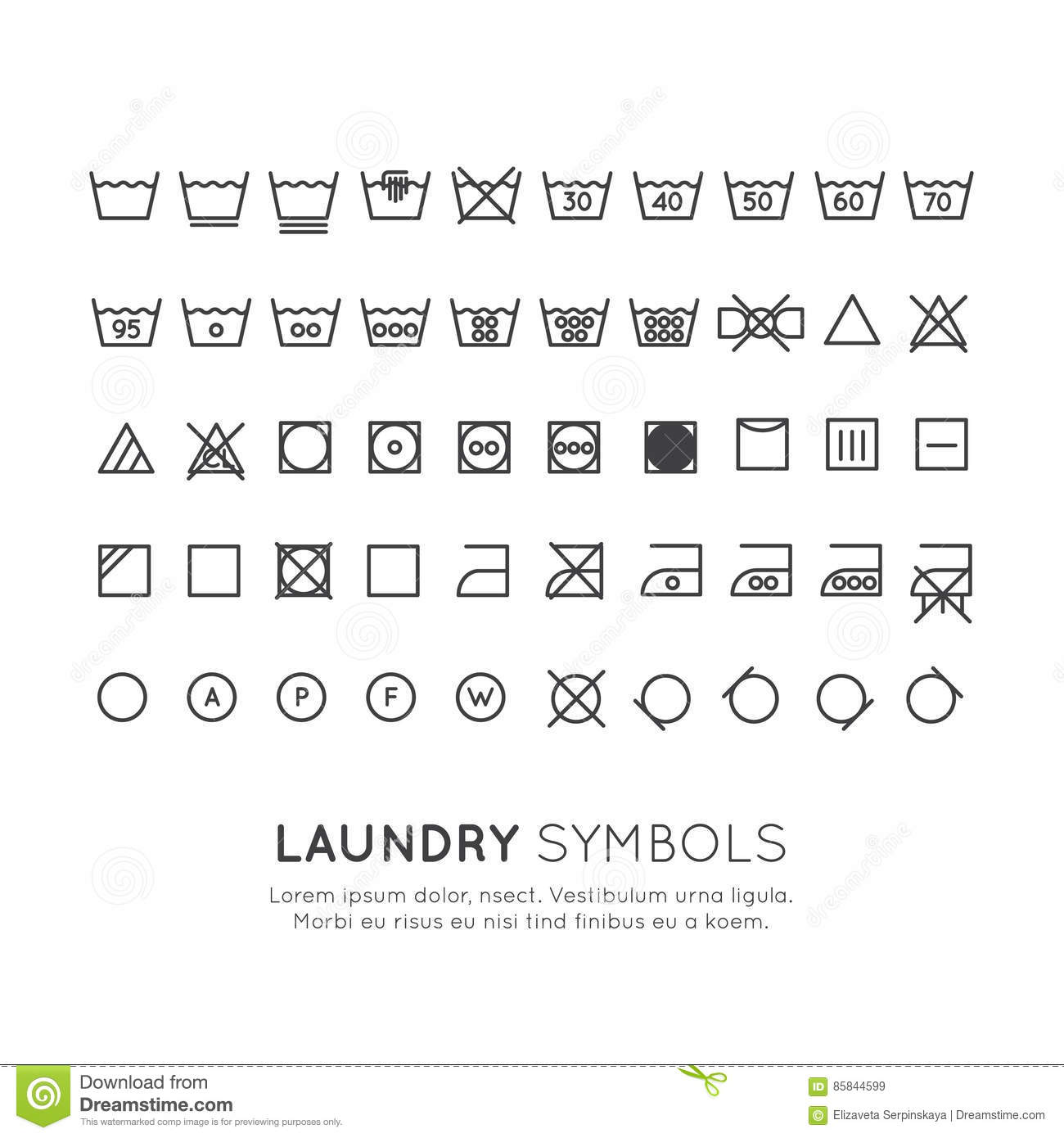 Drying stock illustrations 2353 drying stock illustrations the symbols on the labels of clothes washing wringing drying ironing thin biocorpaavc Choice Image