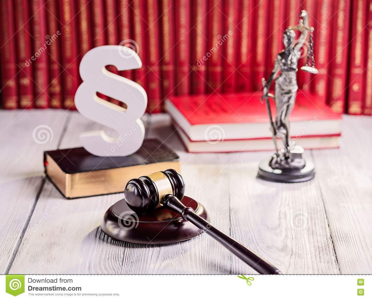 Symbols Of Law In Court Library Stock Photo Image Of Book Gavel
