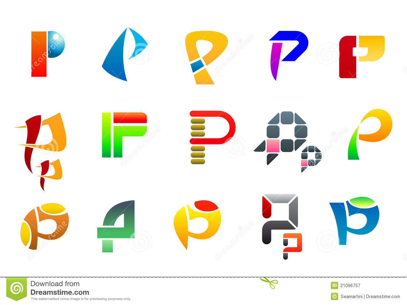 symbols of letter p royalty free stock photography image