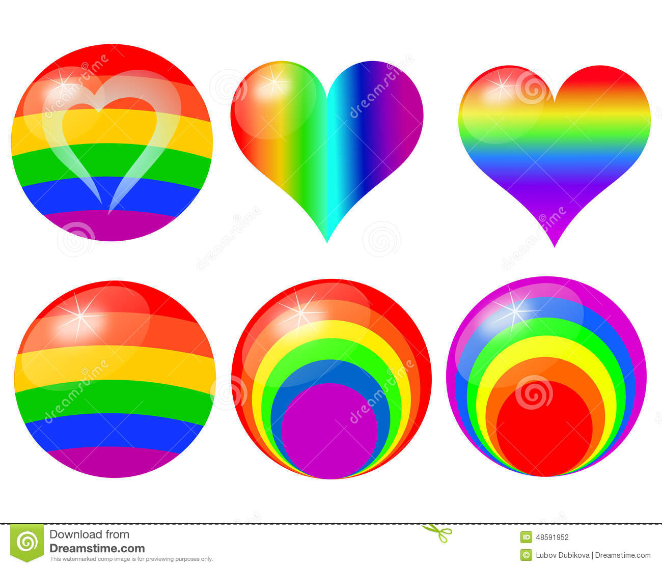 Symbols Of The Lgbt Stock Illustration Illustration Of Orange