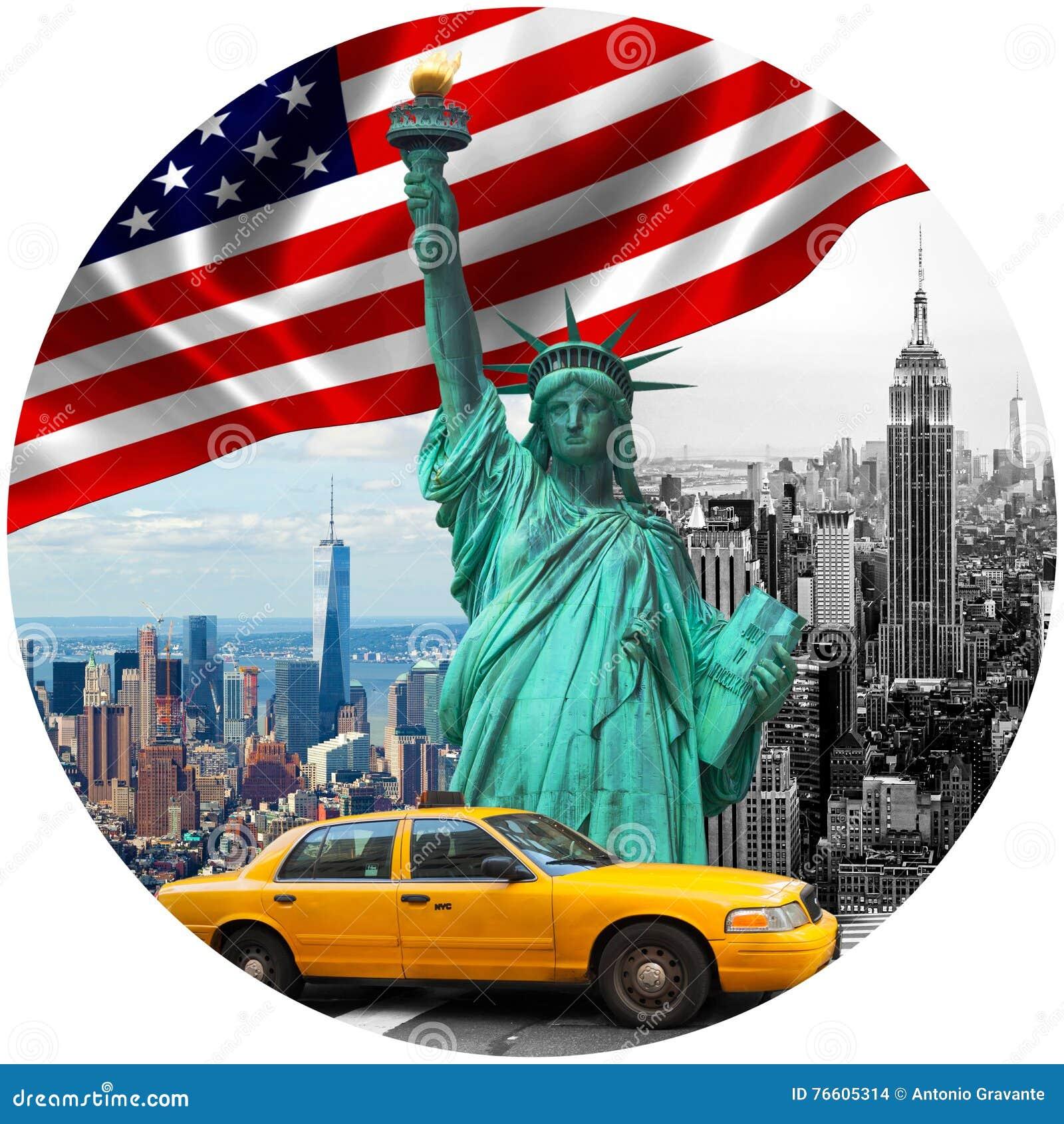 Symbols Of New York City Stock Photo Image Of Patriotism 76605314