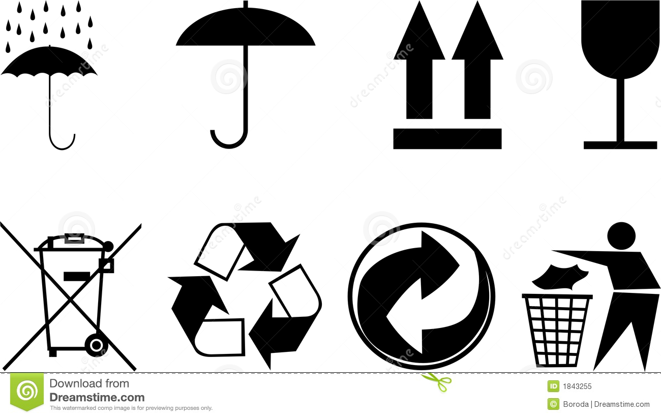 Packing symbols eg fragile recycle vector icon stock vector symbols for packing subjects royalty free stock photo buycottarizona Images