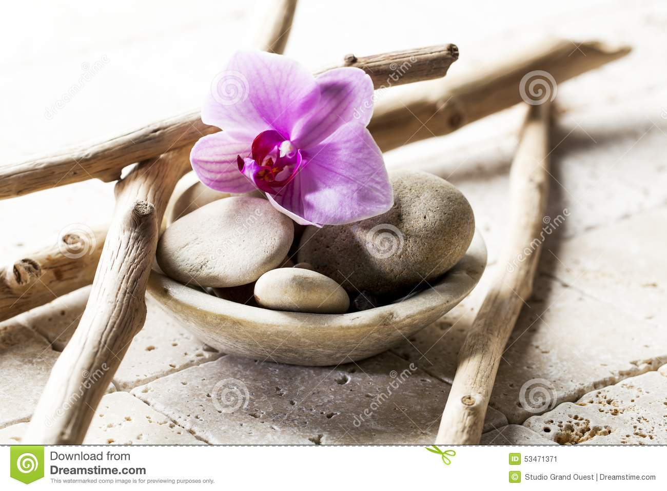 Symbols Of Purity With Mineral Elements Stock Image Image