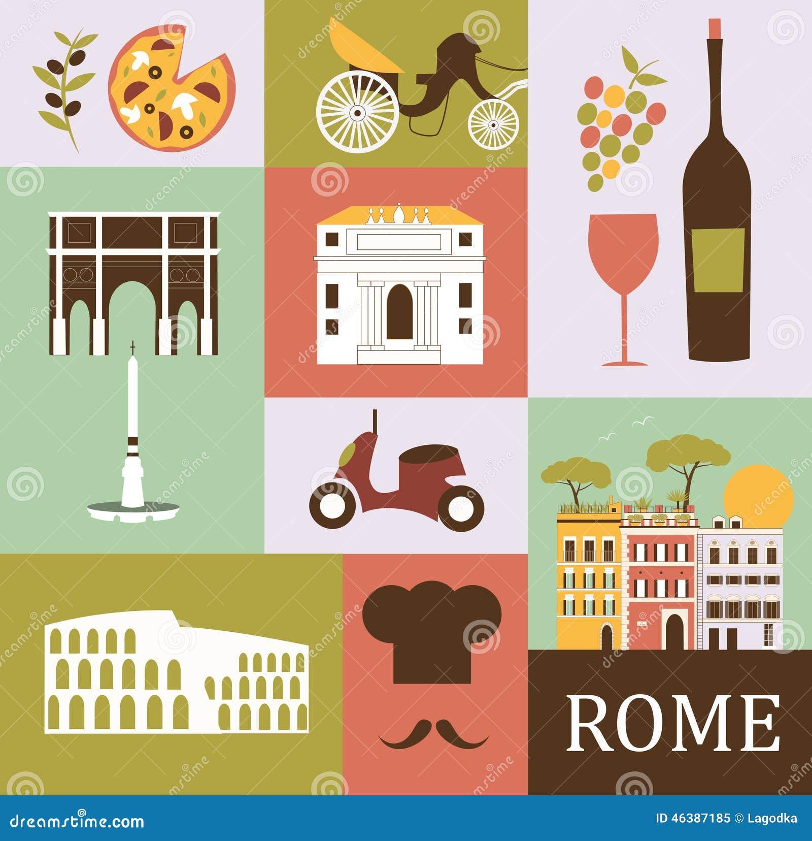 Rome stock illustrations 11457 rome stock illustrations symbols of rome symbols of rome in bright colors royalty free stock photo biocorpaavc