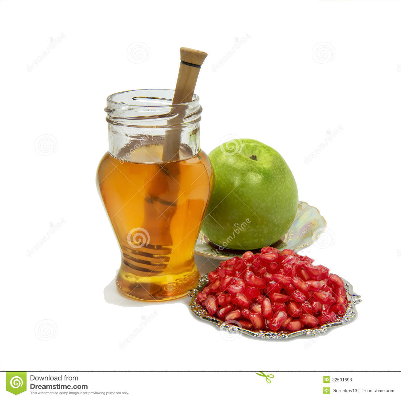Symbols Of Rosh Hashana Royalty Free Stock Photos - Image ...
