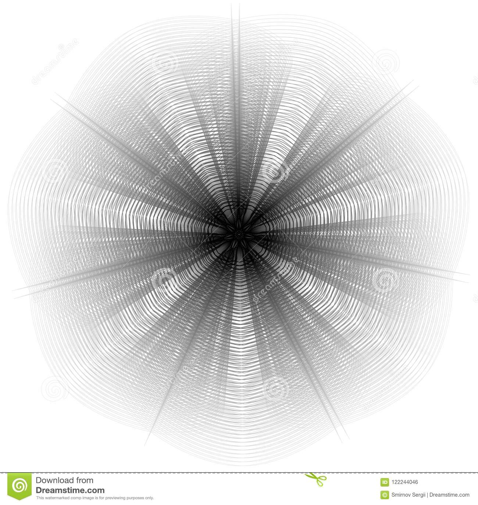 Flower 3d Geometry Of Nature Stock Illustration Illustration Of