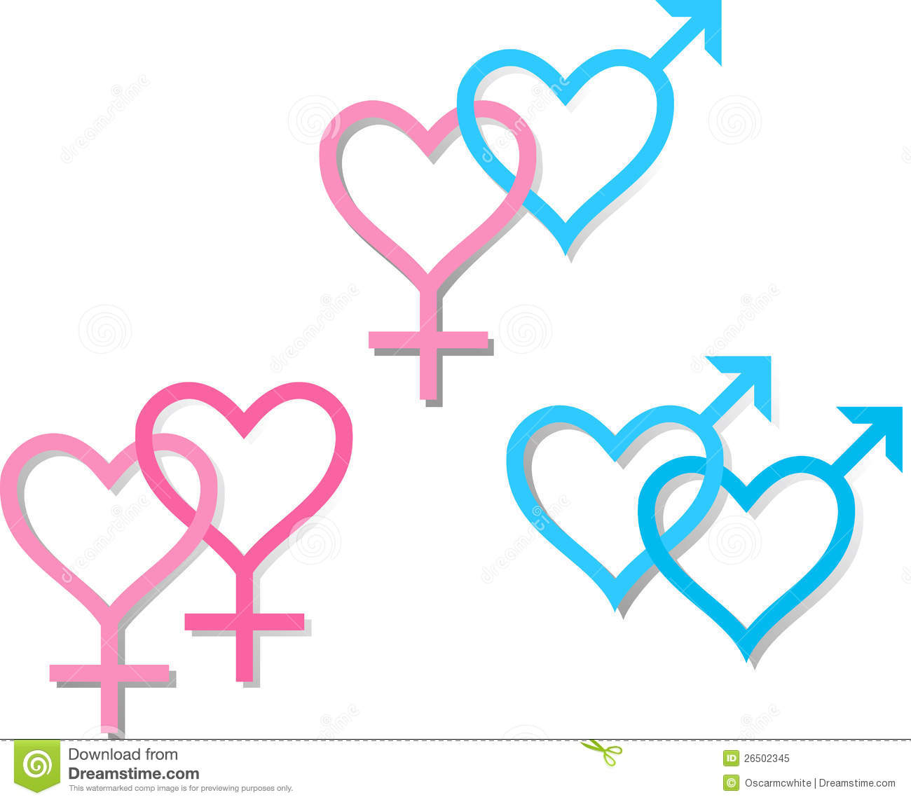 Symbols Of Sexual Orientation Royalty Free Stock Photo