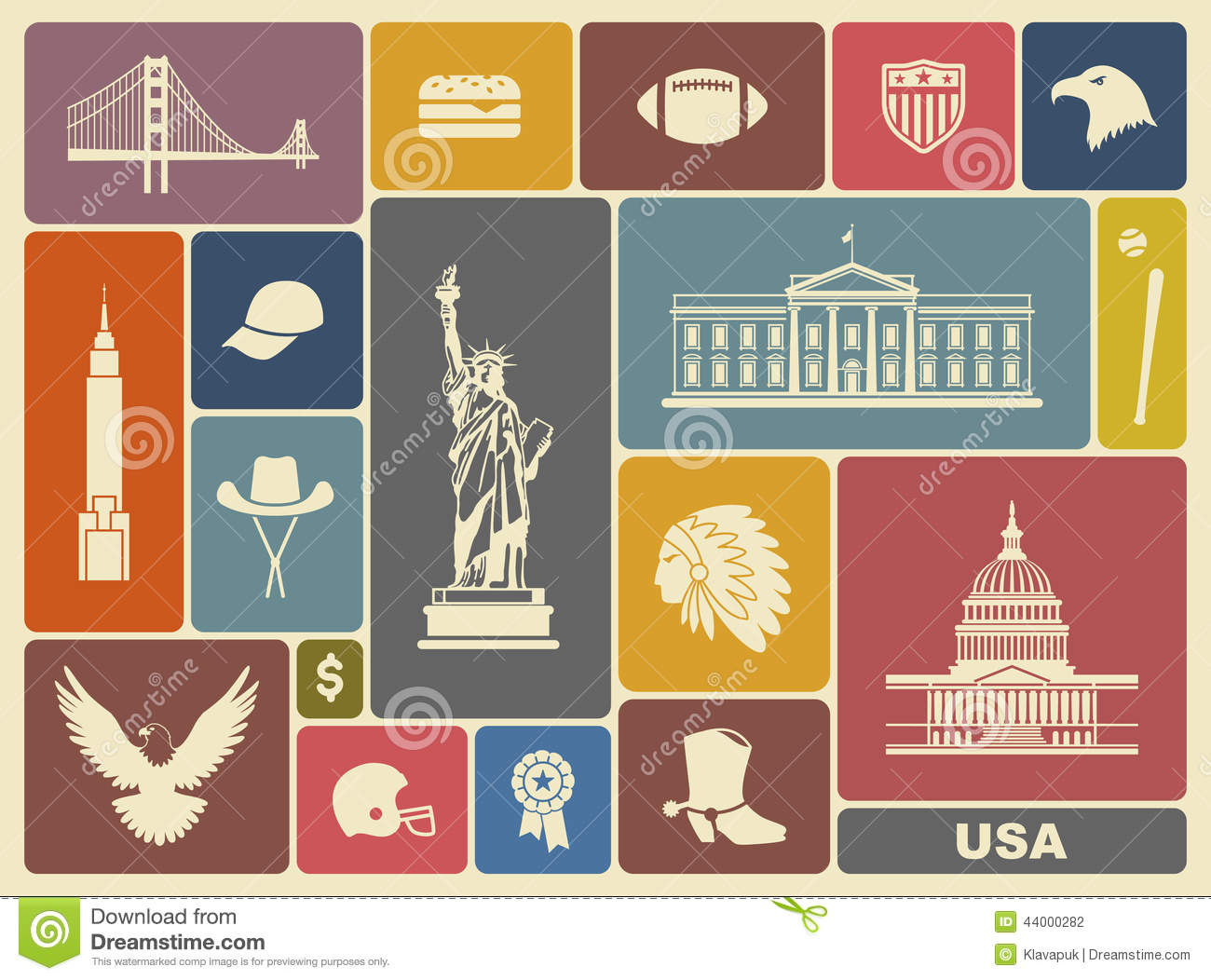 Symbols Of The Usa Stock Vector Image 44000282