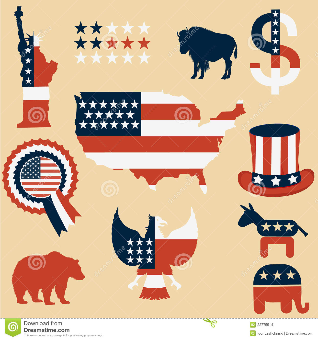 Symbols USA Stock Images - Image: 33775514