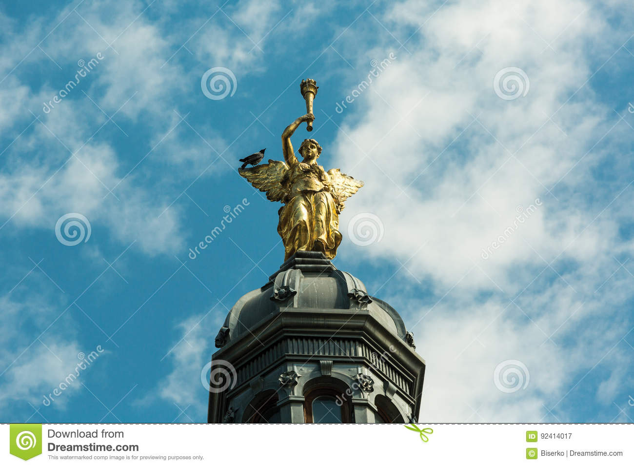Symbols Of Victory And Death Stock Image Image Of Rook Wings