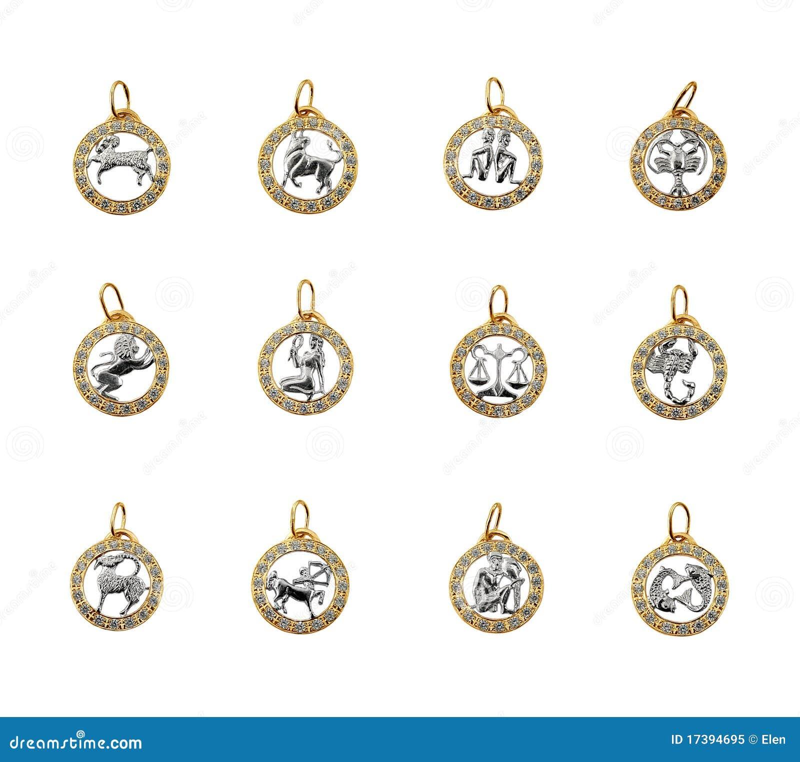 Symbols of the zodiac, horoscope