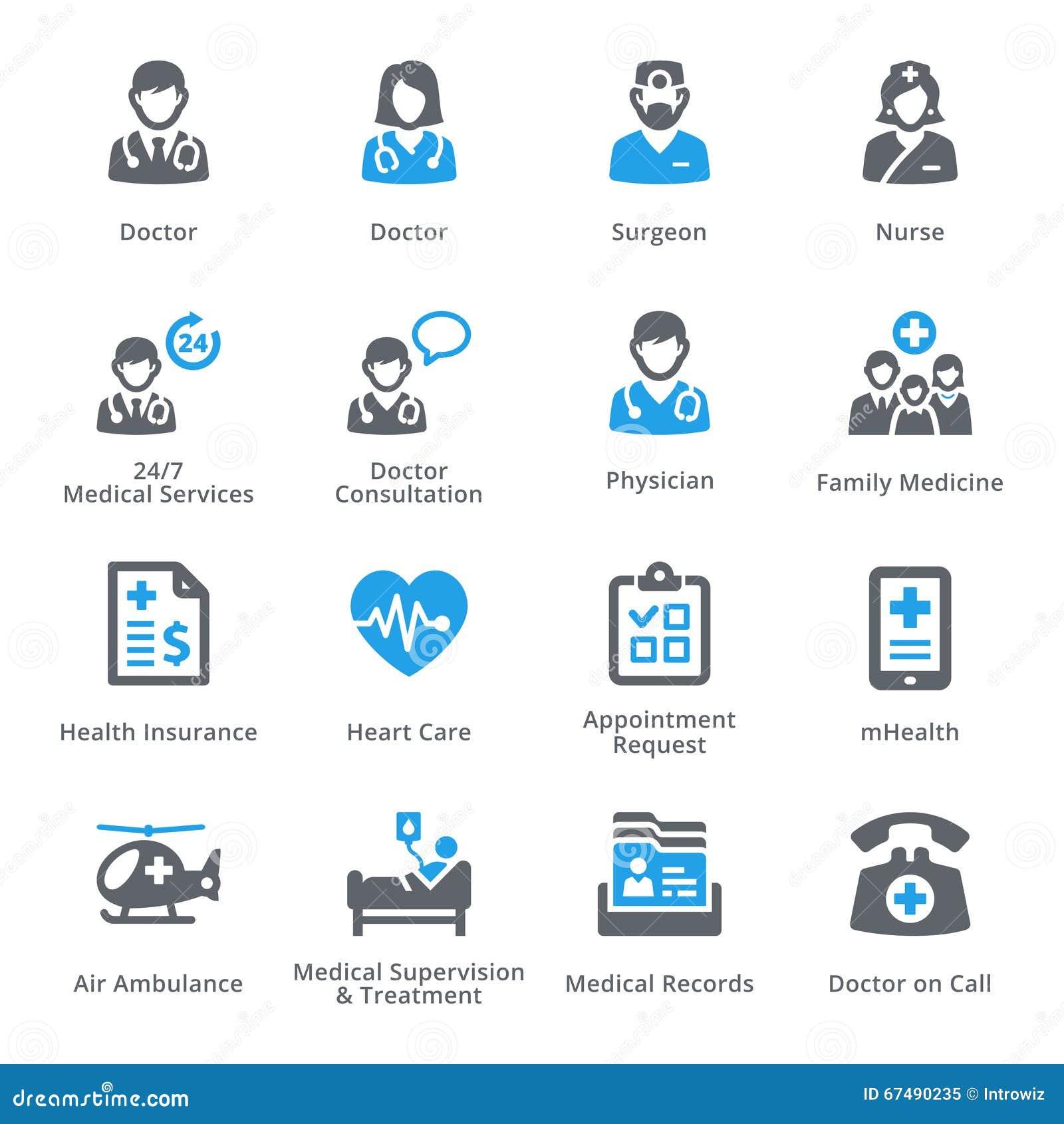 Symbolsuppsättning 1 för medicinsk service - Sympa serie
