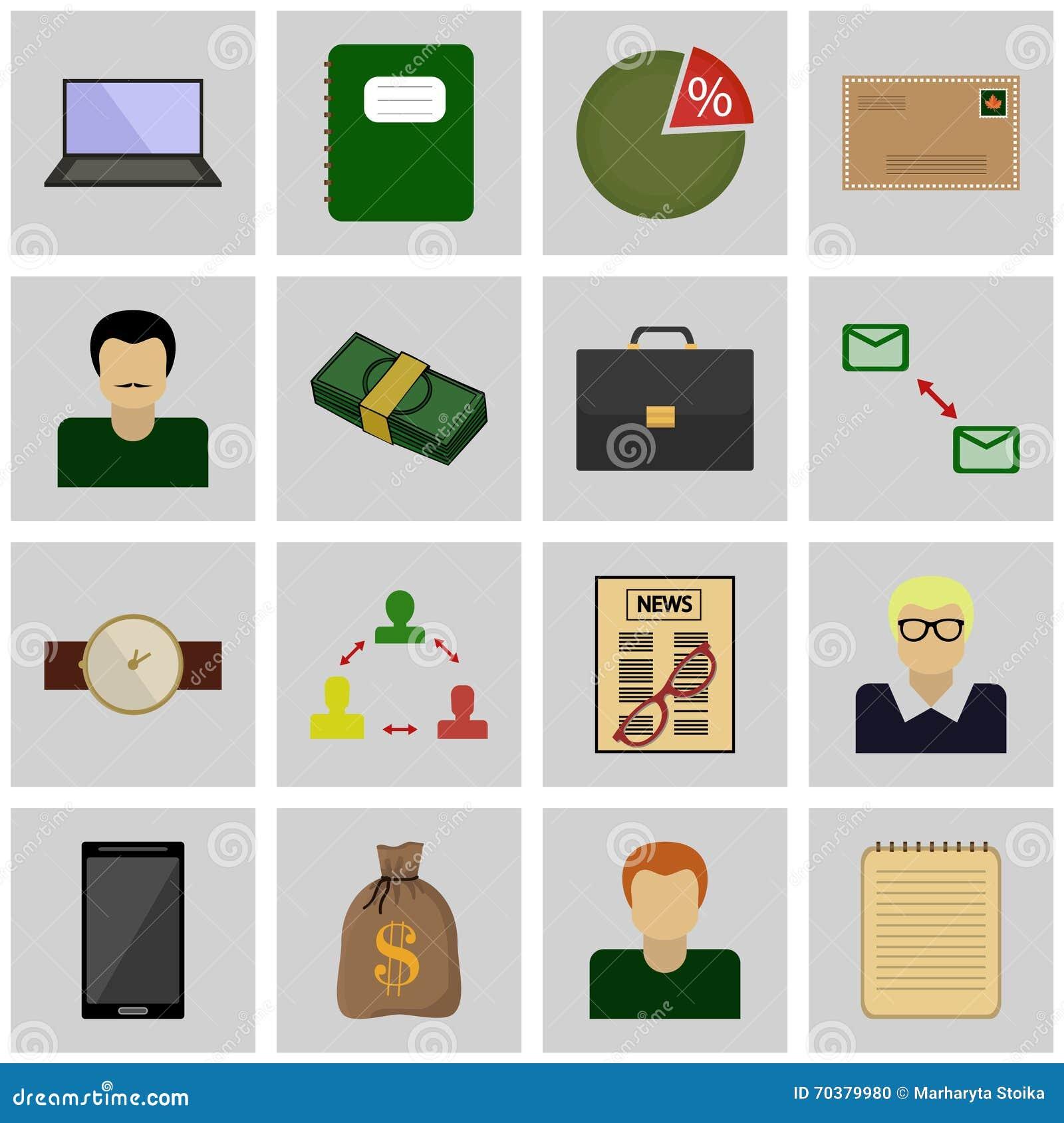 Symbolsuppsättninggrå färger, fyrkant/affär för symbol för symbolsaffärsvektor
