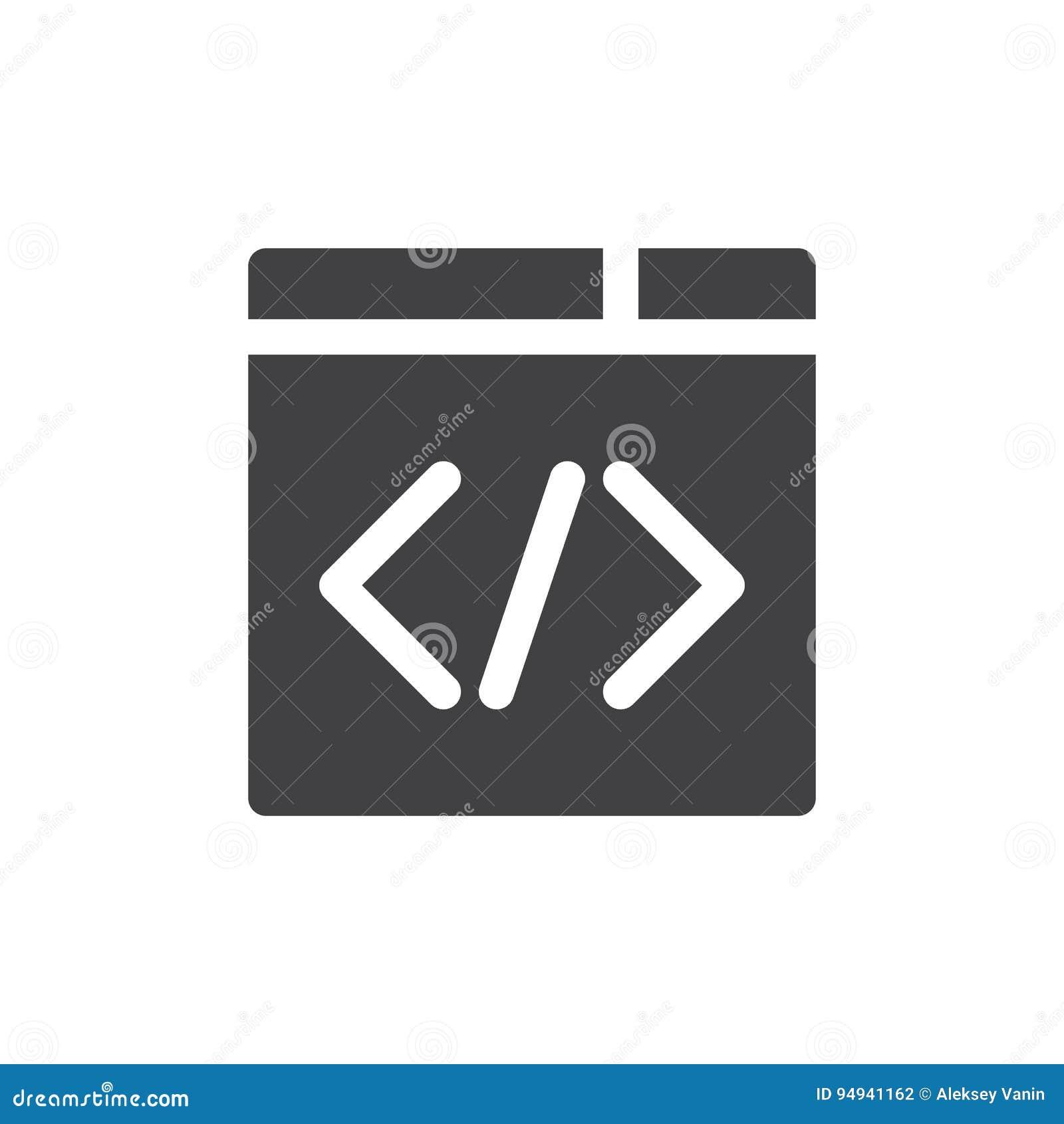 Symbolsvektor för beställnings- kod, fyllt plant tecken, fast pictogram som isoleras på vit