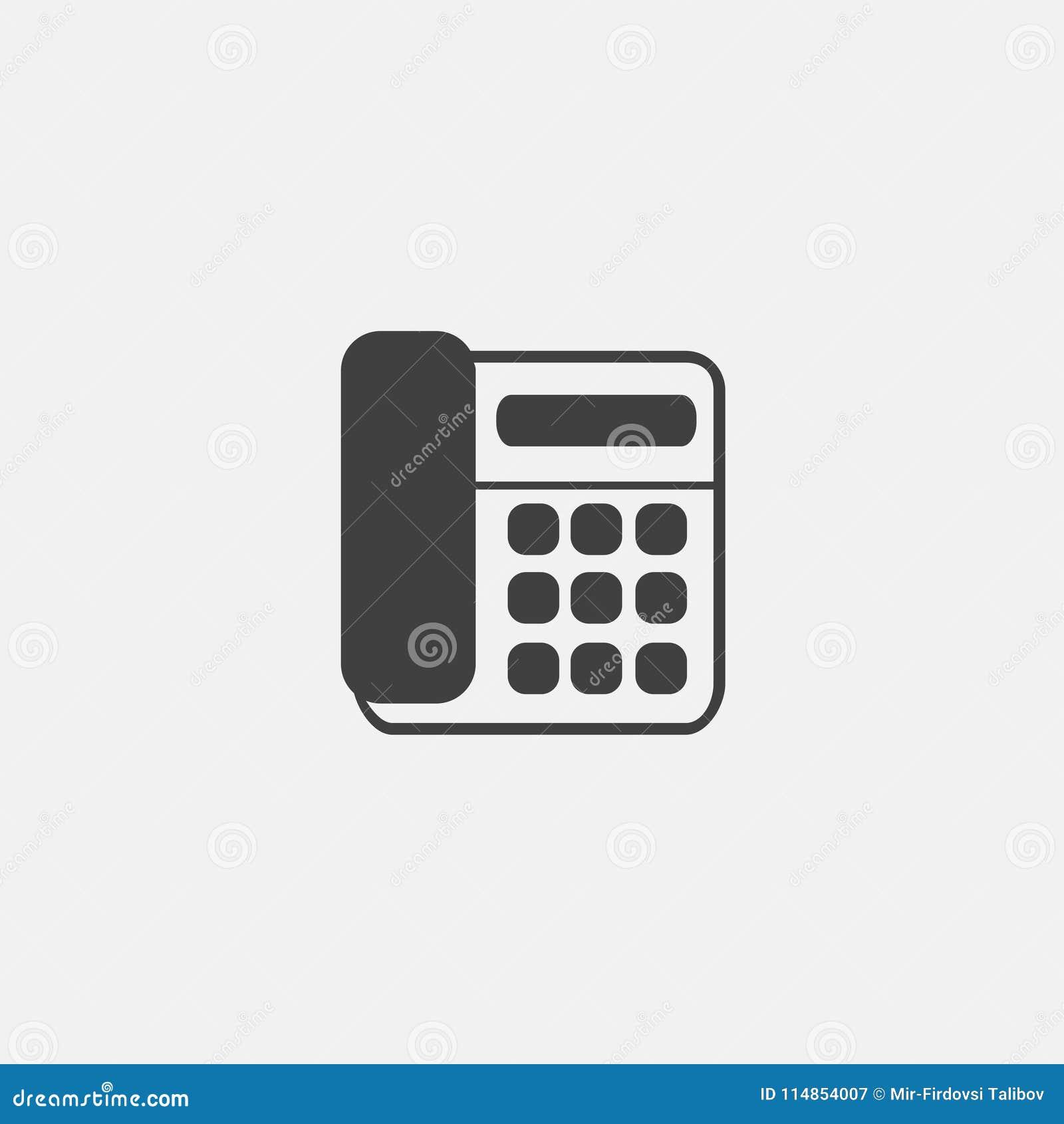 Symbolsvektor för hem- telefon