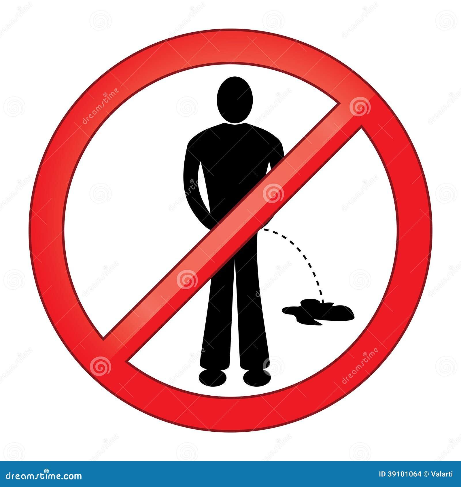 Symbool Geen het Urineren