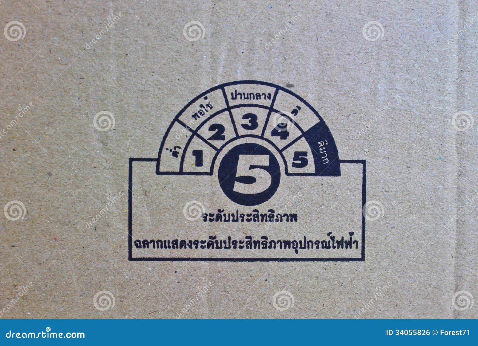 Symbool op karton