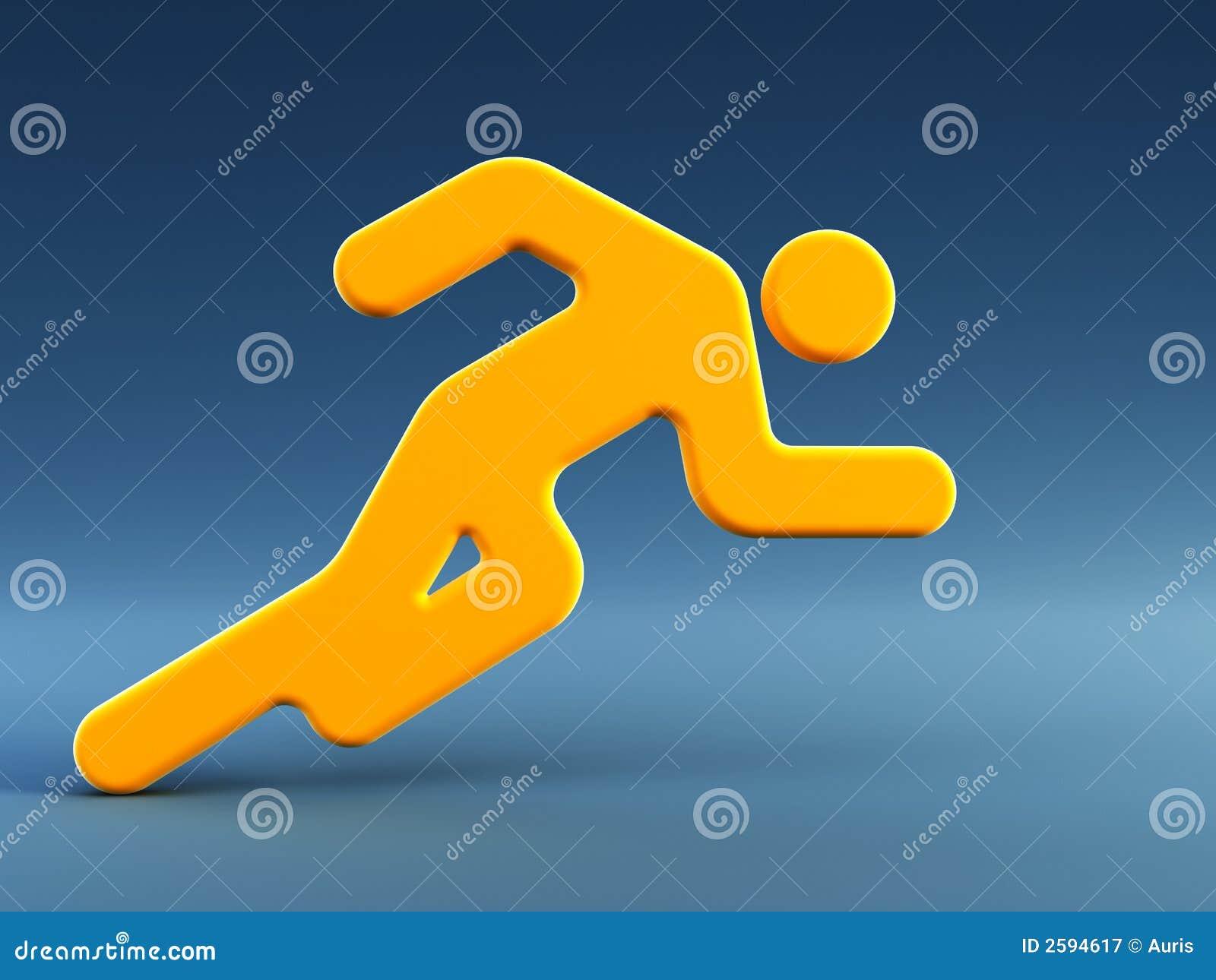 Symbool van de lopende man