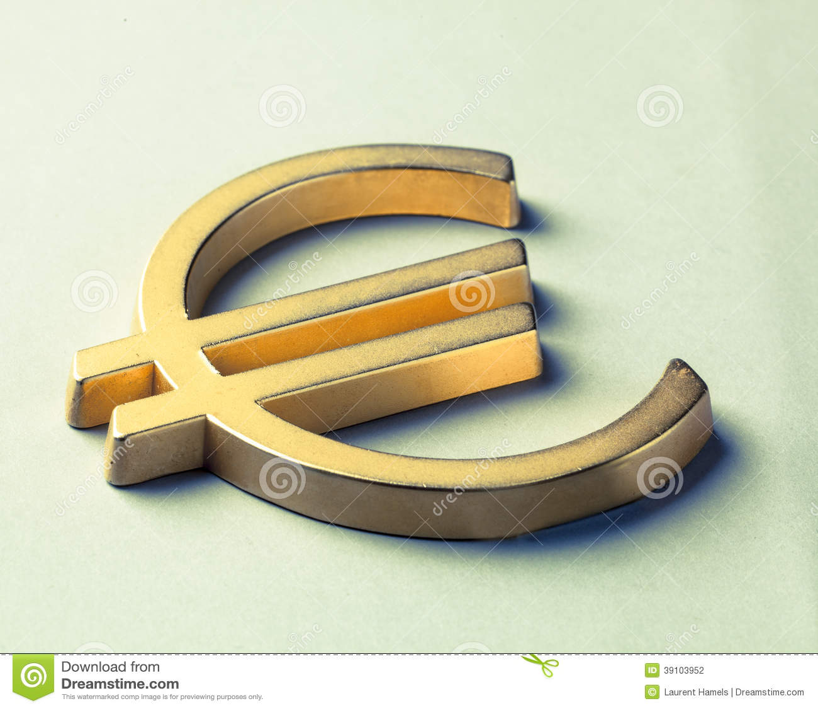 Symbool van Euro munt