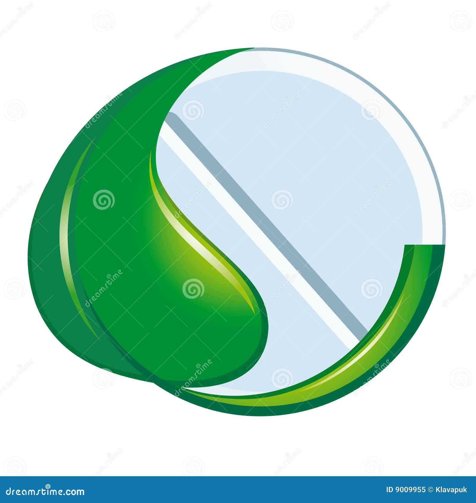 Symbool van natuurlijke geneeskunde
