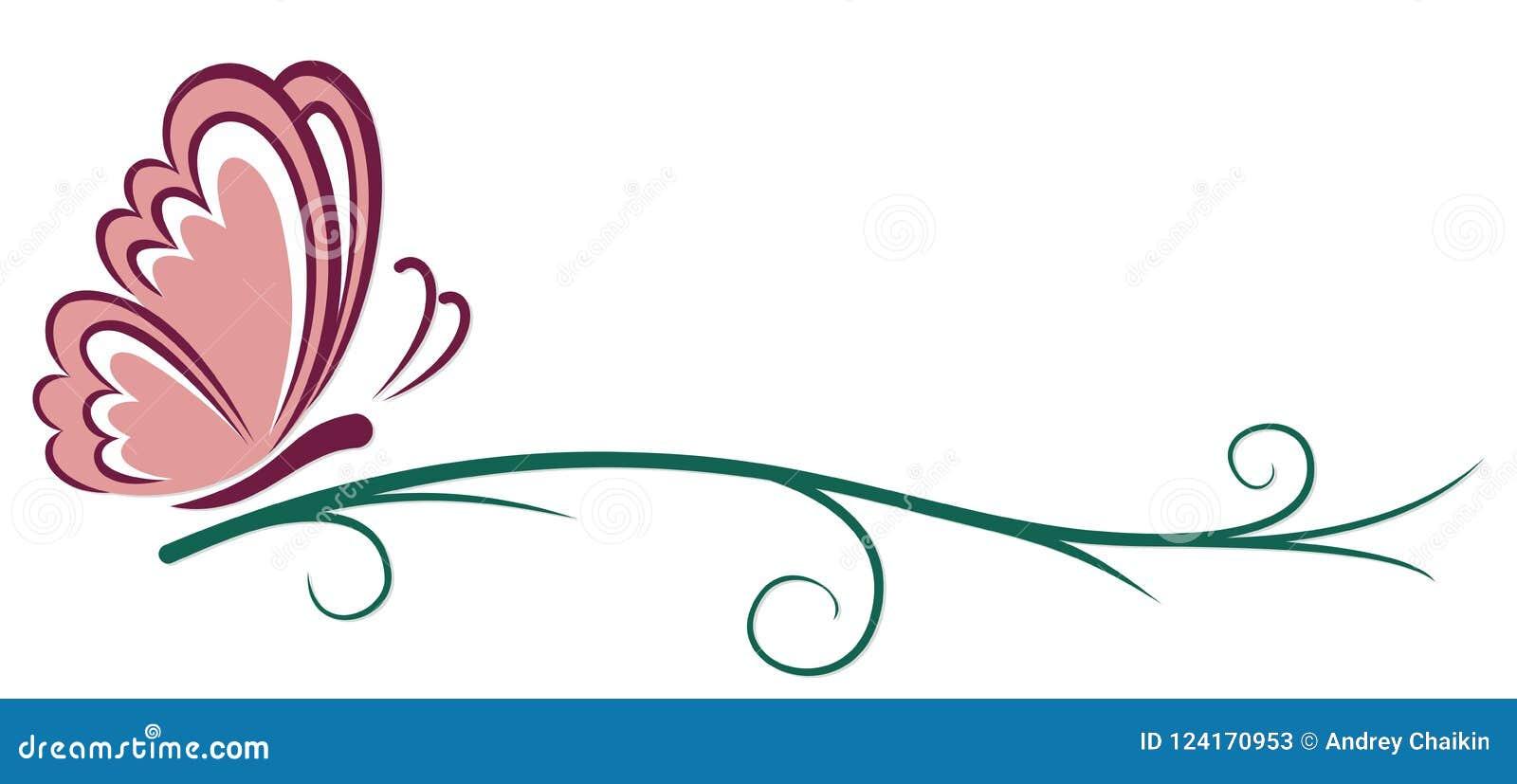 Symbool van roze vlinder