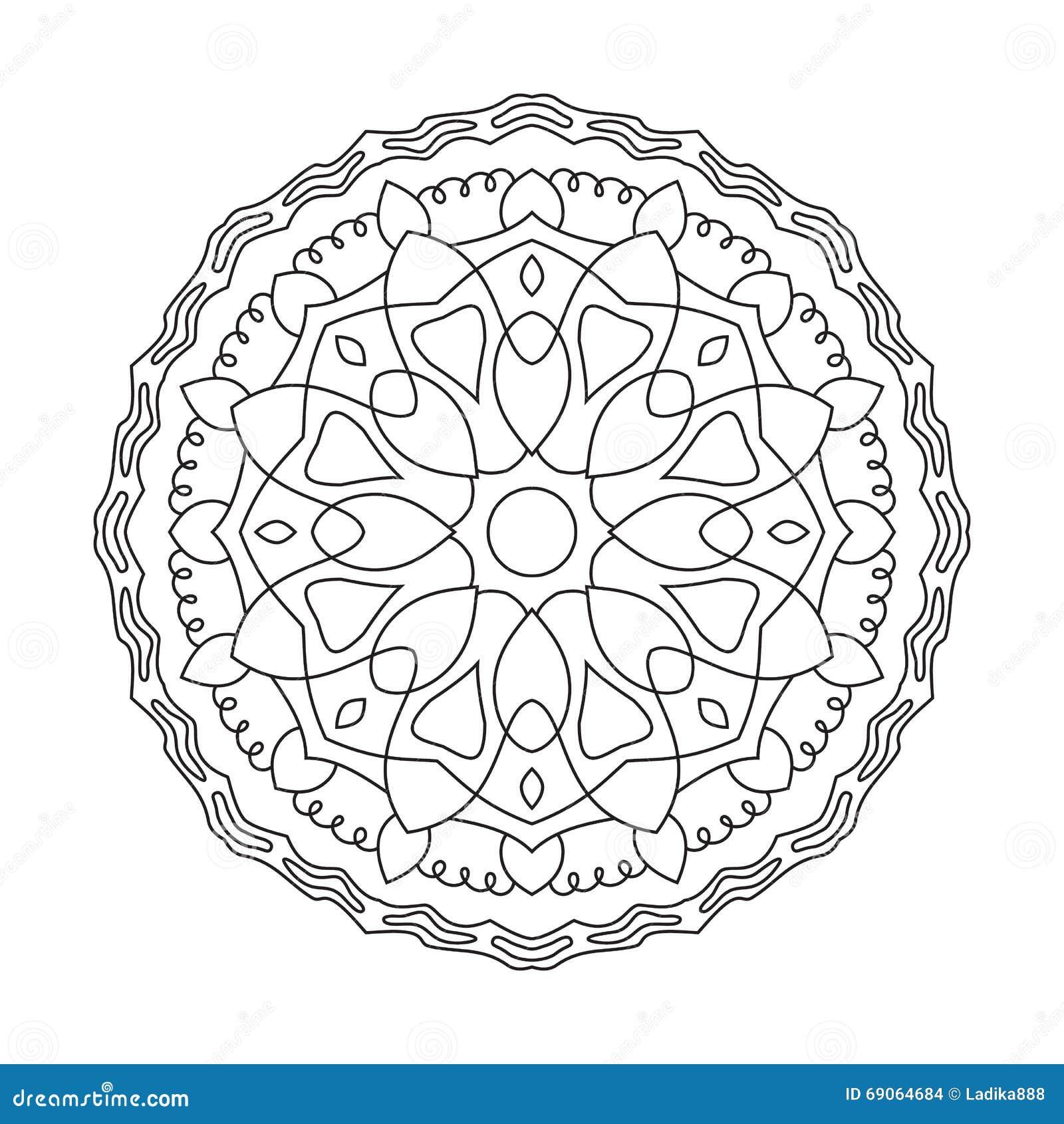 Symetryczny kurenda wzoru mandala Dekoracyjny orientała wzór