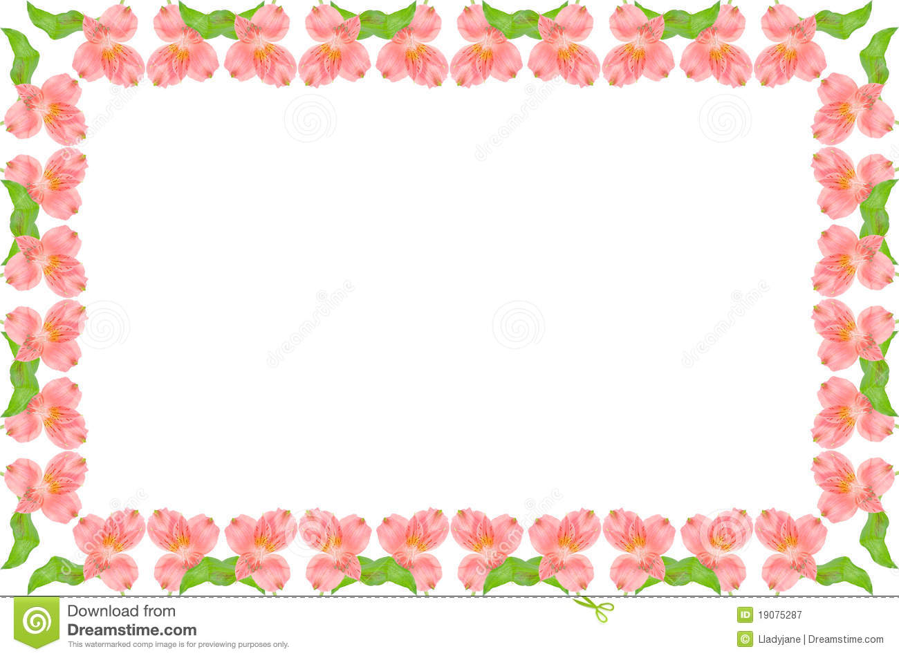Symmetric pink and green floral frame stock image image of green symmetric pink and green floral frame jeuxipadfo Images