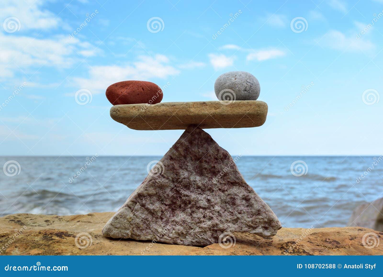 Symmetric równowaga kamienie
