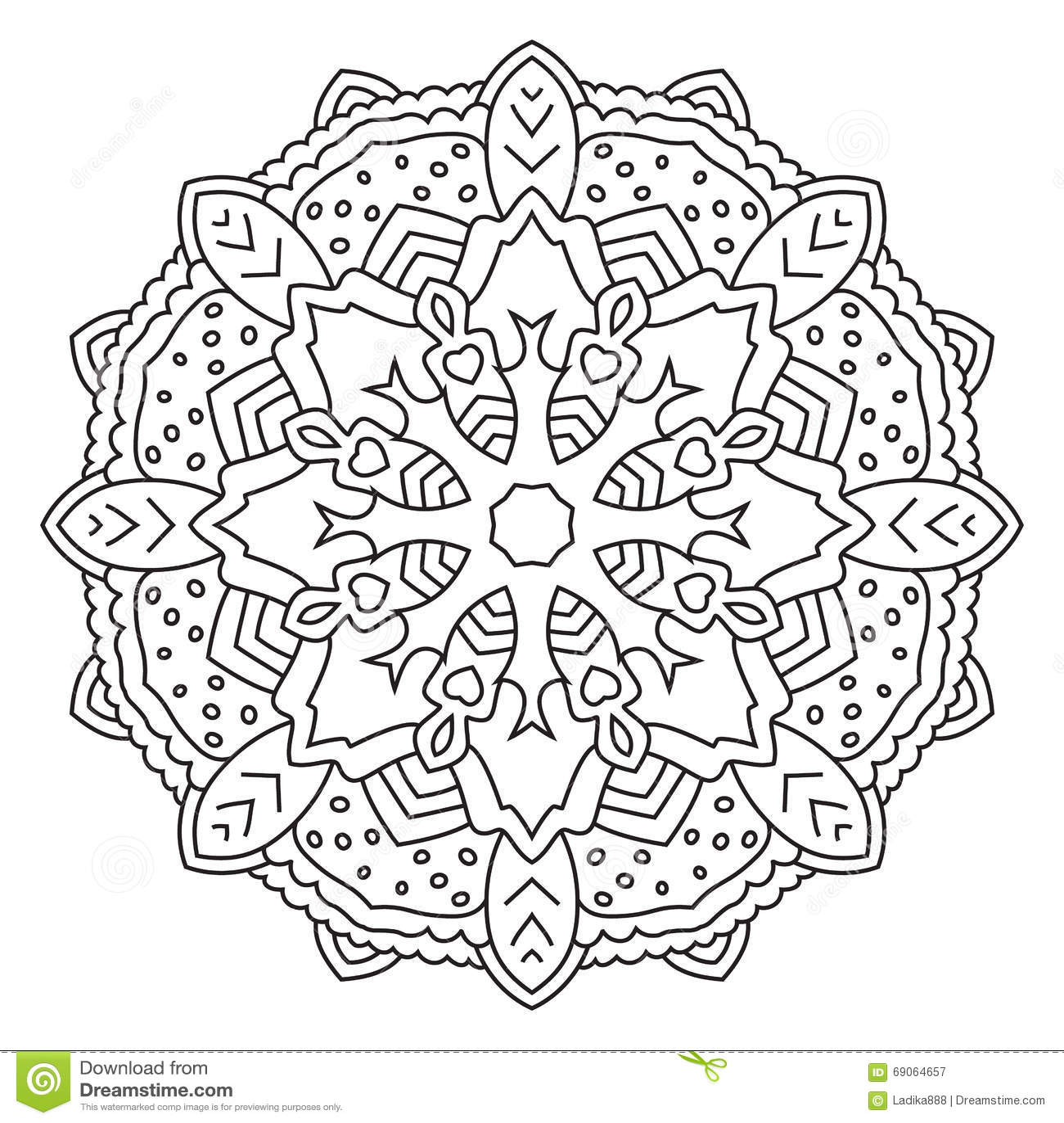 symmetrical circular pattern mandala stock vector image 69064657