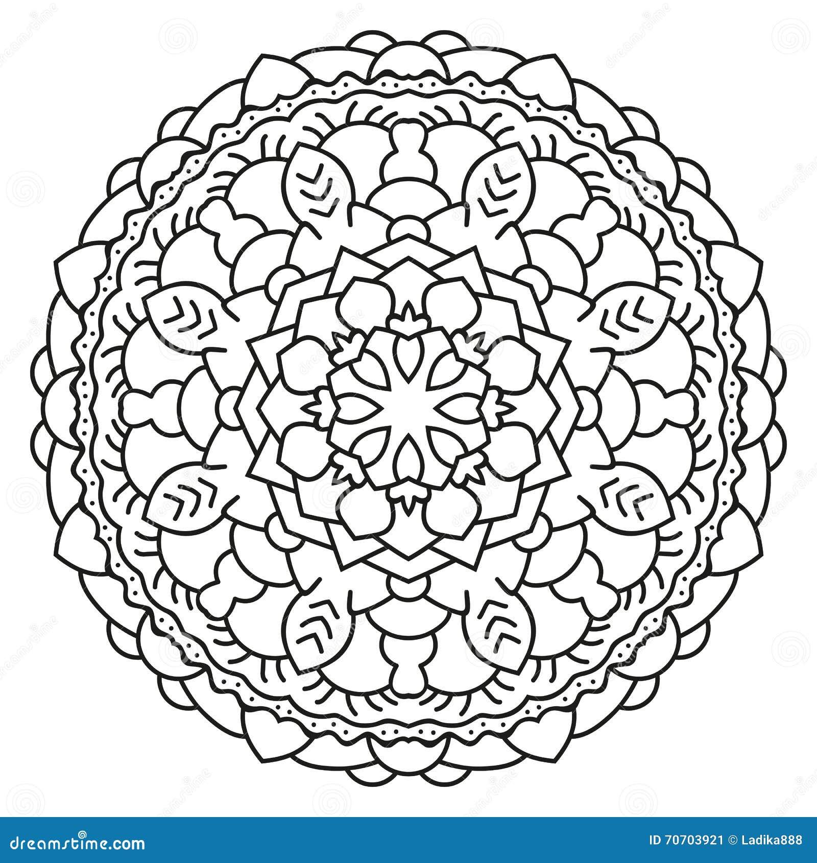 symmetrical circular pattern mandala stock vector image 70703921