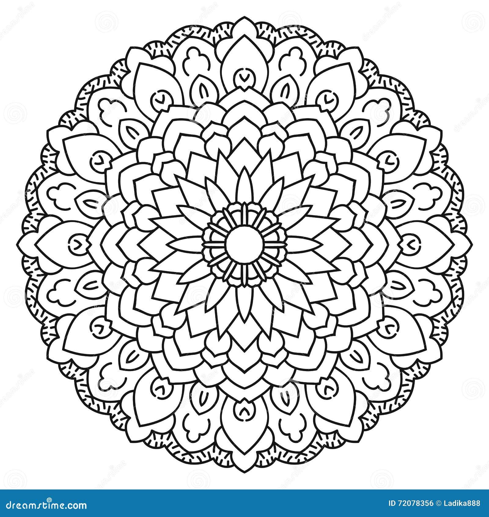 Symmetrical Circular Pattern Mandala Stock Vector Illustration Of - Circle-pattern-coloring-pages